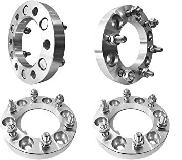 Dynofit 6x5.5 Wheel Spacers for Toyota 4Runner FJ Cruiser Ventury Fortuner 1982-1997 Land Cruiser 6x139.7 1 Inch 12x1.5 108mm Solid Wheels Spacer for 4WD Tacoma 2000-2006 Tundra 2001-2007 Sequoia