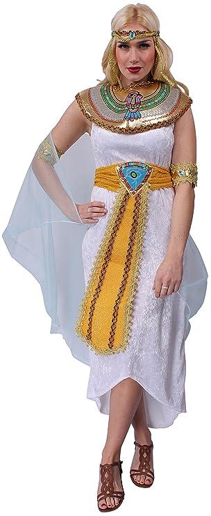 Kleopatra Kostum Weiss Damen Cleopatra Agypterin Kleid Karneval Fasching