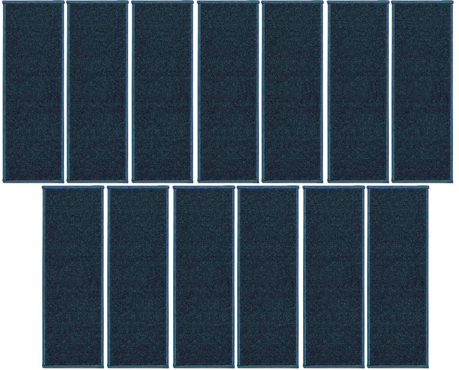 Ambiant Indoor Outdoor StairThreads Teal 8'' x 26'' (set of 13) - Area Rug