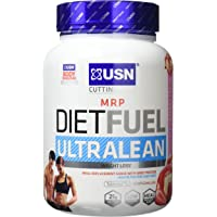 USN Diet Fuel Ultralean Weight Control Meal Replacement Shake Powder, Strawberry Cream, 1 kg