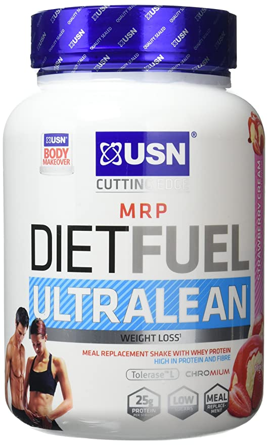 Usn Diet Fuel Ultralean Weight Control Meal Replacement Shake Powder Strawberry Cream 1 Kg