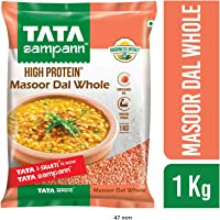 Tata Sampann Masoor Dal, Whole, 1kg