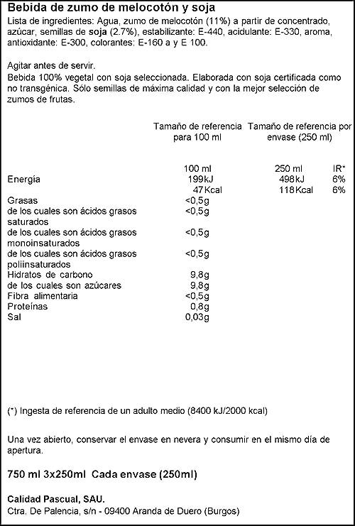Vivesoy Zumo de Soja y Melocotón - Paquete de 3 x 25 cl - Total: 0,75 l: Amazon.es: Amazon Pantry