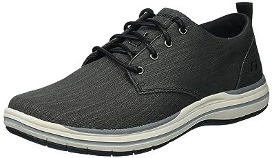 buy popular a3e72 e4705 Skechers Classic Fit Elson MOTEN Aircooled Memory Foam Herren Sneaker BLK