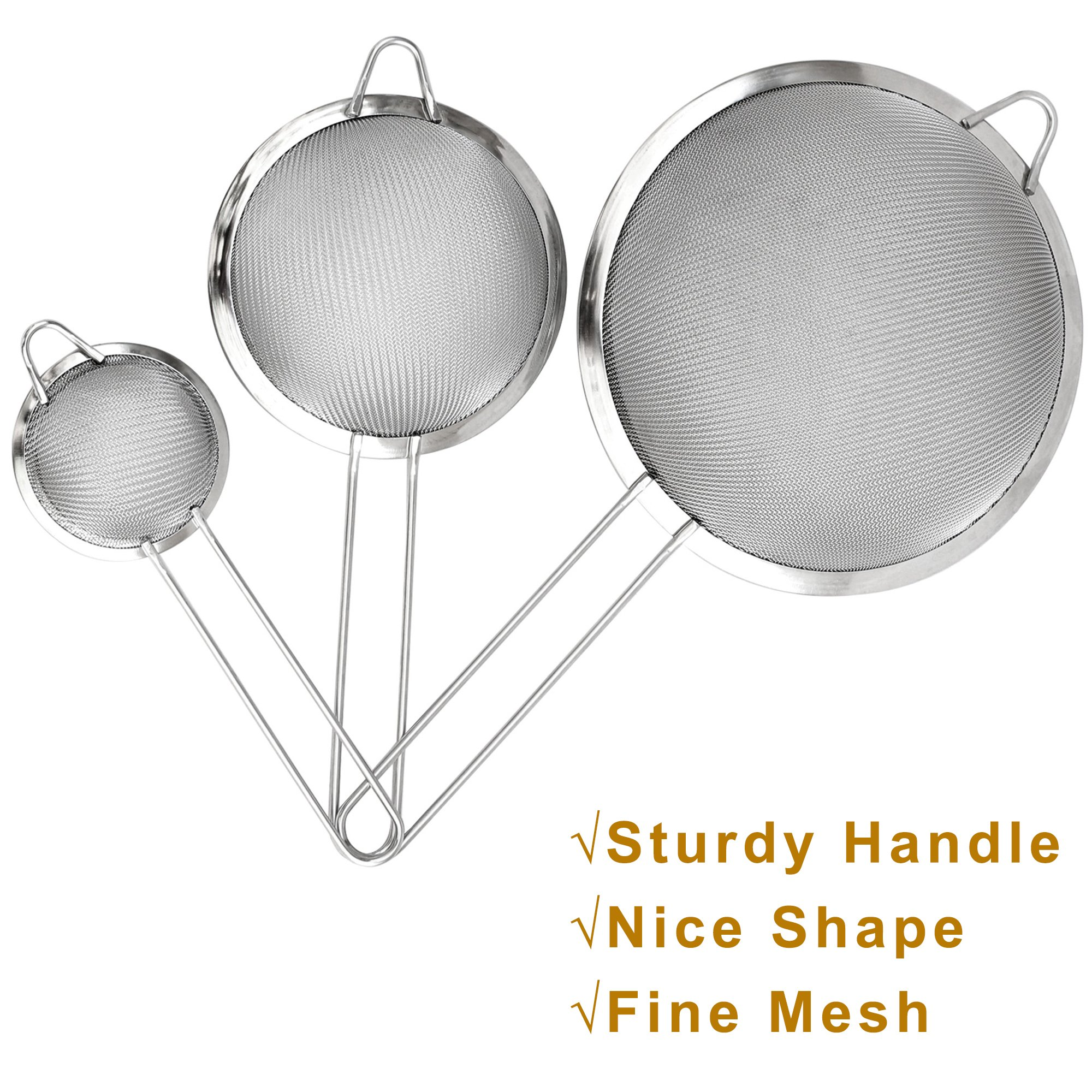 Ipow Ip01115 Stainless Steel Fine Tea Mesh Strainer
