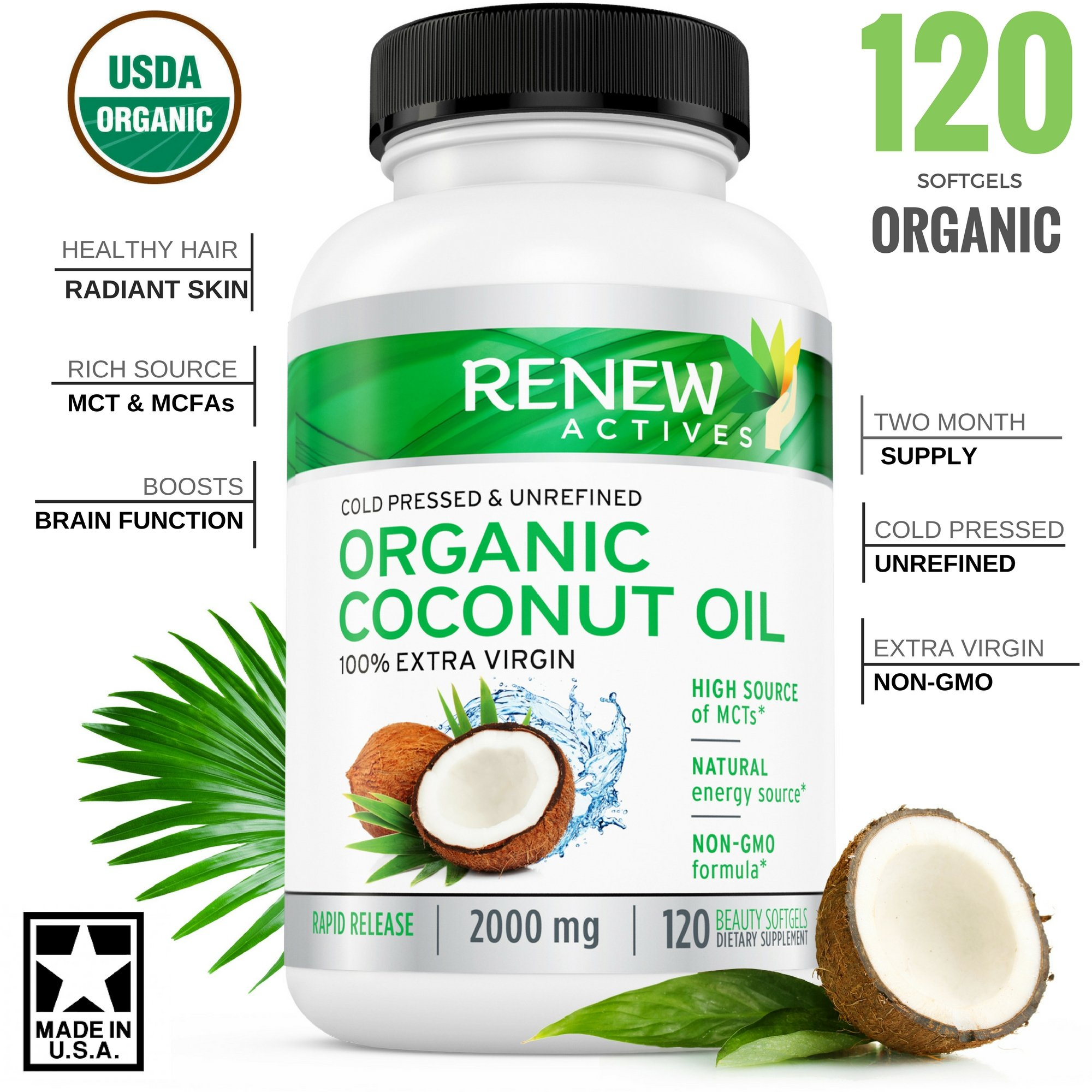 Benefits of coconut oil pill form