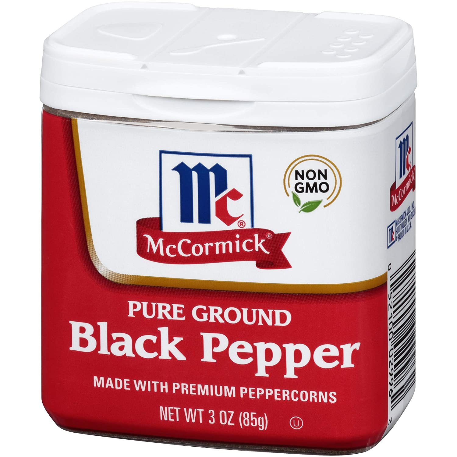 McCormick Classic Ground Black Pepper, Large Size, 3 Oz