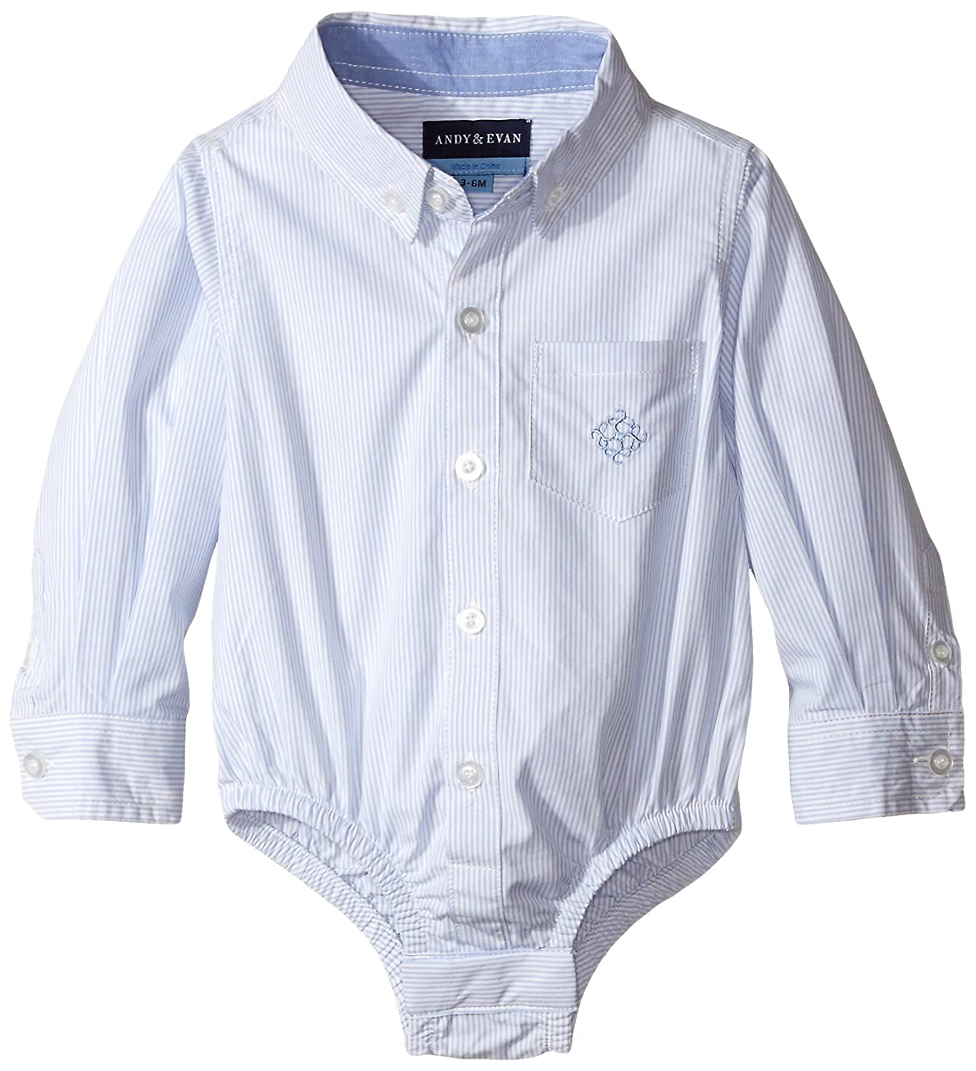 Andy & Evan Baby Boys' White Oxford Shirtzie 26348A-WHA
