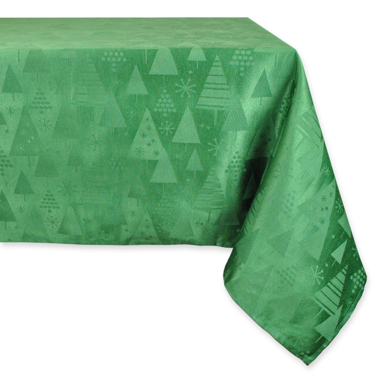 DII Machine Washable, Dinner and Holiday Tablecloth 52 x 90, Holiday Trees, Green, Seats 6 to 8 people CAMZ34219