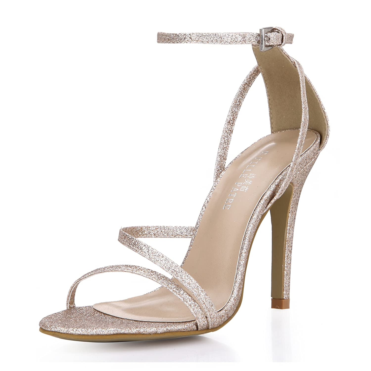 Amazon.com | SUMMER Simple Heeled Sandals Bridal Bridesmaid Shoes ...