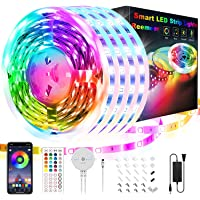 65.6ft Led Lights for Bedroom, Reemeer Led Strip Lights Music Sync Color Changing Led Lights with App Control and Remote…