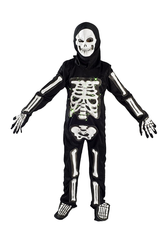 Halloween Skeleton Costume Kids.Monika Fashion World Skeleton Costume For Boys Kids Light Up Halloween Size M 5 7 L 6 9