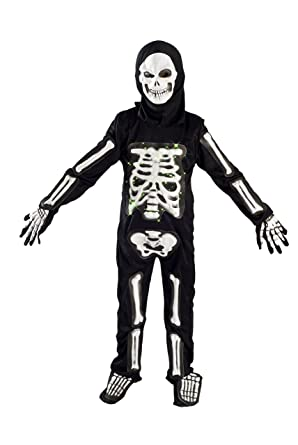 Skeleton Costume for Boys Kids Light up Halloween Size M (5-7) L  sc 1 st  Amazon.com : light up stick man costume  - Germanpascual.Com