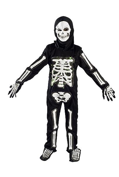 monika fashion world skeleton costume for boys kids light up halloween size m 5