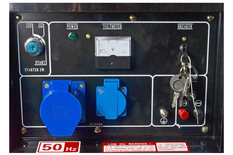 Warrior 5000 Watt Diesel Generator Notstromaggregat Stromerzeuger Prime Genset Pr7500cl 6000watt 230v Eu Baumarkt