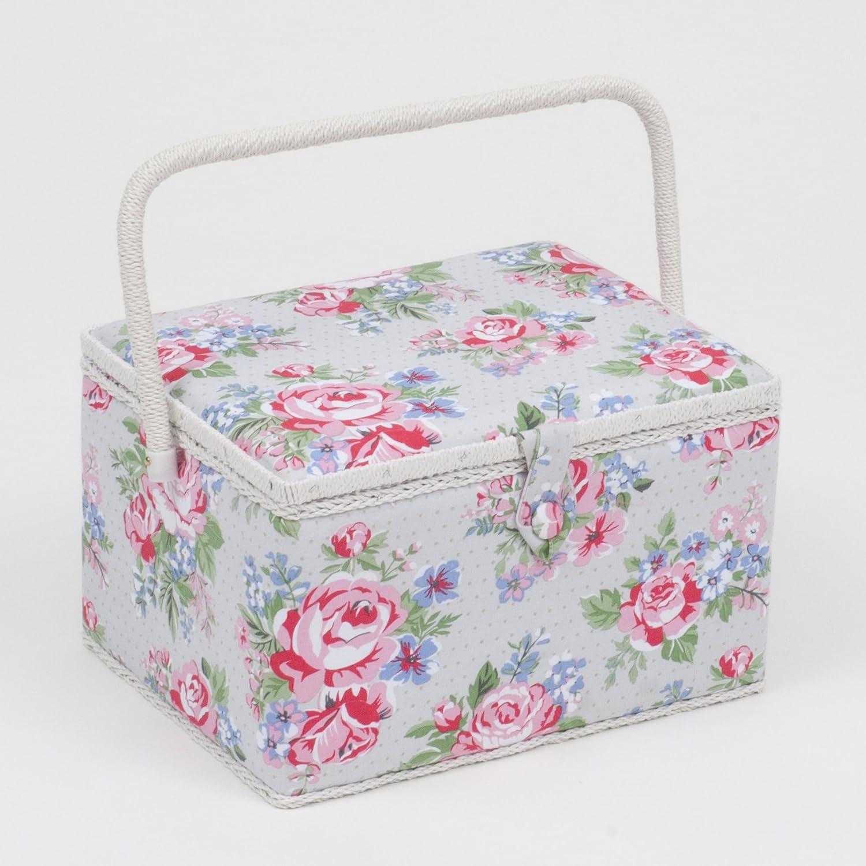 Grande boîte à couture/organiseur–Rose (Fleurs) | Hobbygift Mrl \ 443| 24x 31x 20cm Hobby Gift