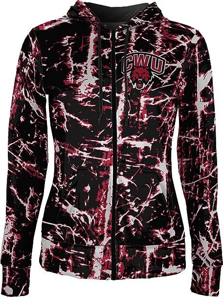 University of Northern Colorado Womens Zipper Hoodie School Spirit Sweatshirt Distressed