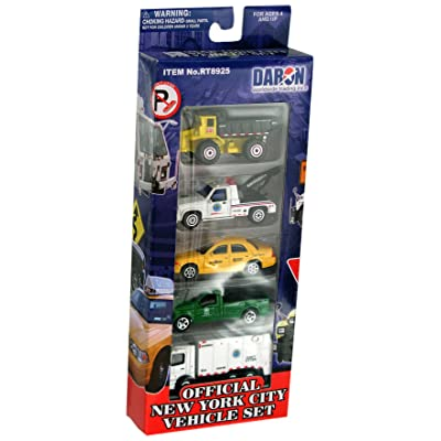 Daron New York City Official Vehicle Set 5-Piece: Toys & Games