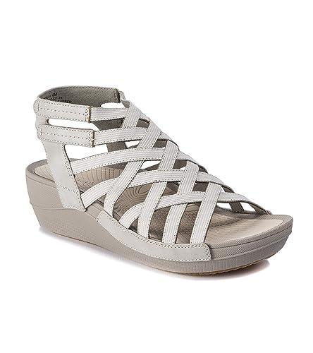8c67c90b7226 BareTraps Brella Women s Sandals   Flip Flops Grey Size 5.5 M ...