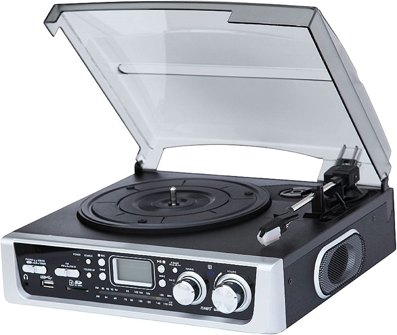 Lauson CL138BLACK - Tocadiscos (radio AM/FM, entrada de tarjeta ...