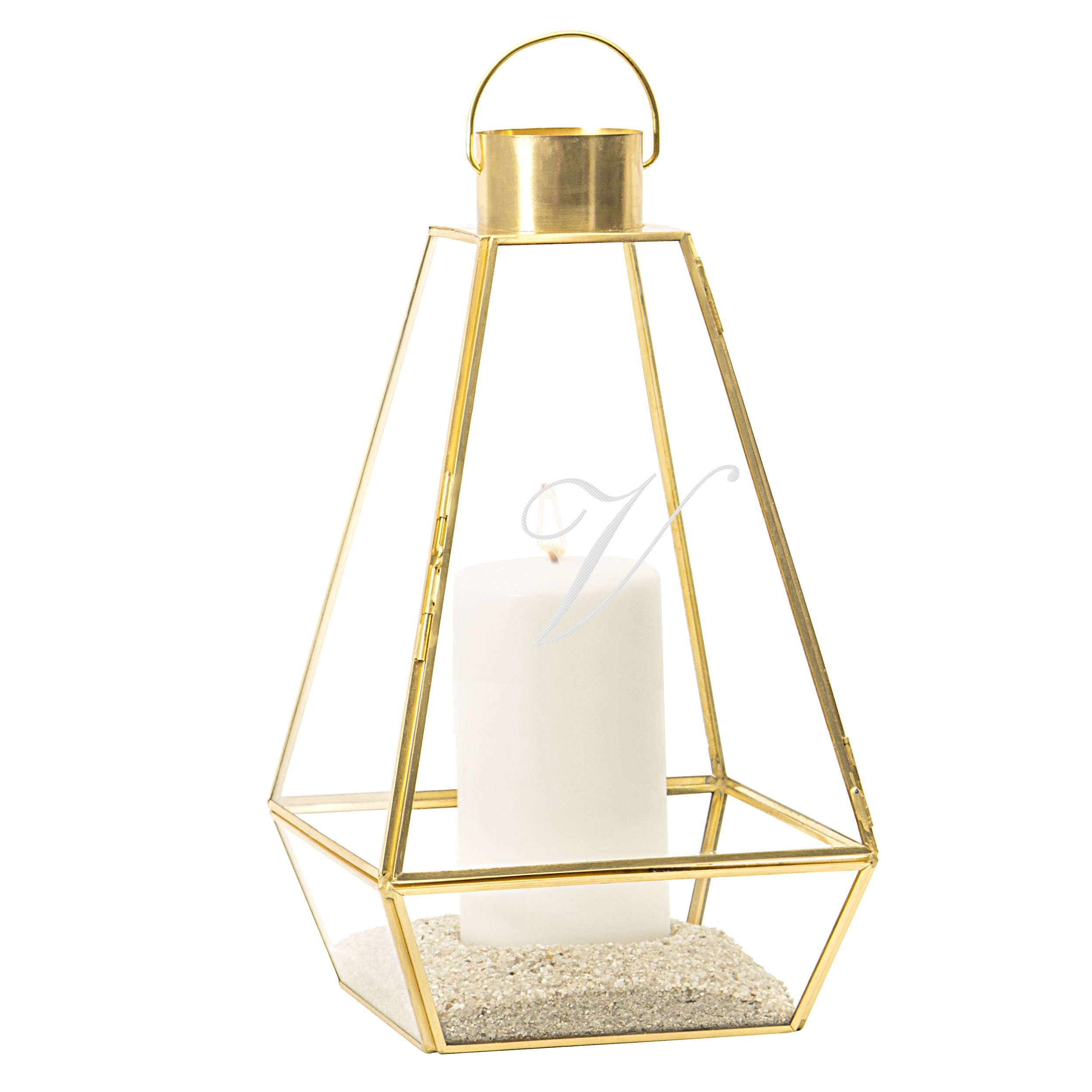 Cathy's Concepts Personalized Gold Metal Wedding Unity Lantern
