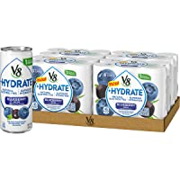 V8 +Hydrate Plant-Based Hydrating Beverage, Blueberry Acai, 8 oz. Can, 6 Count (...