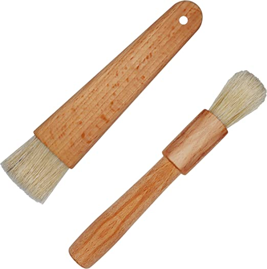 Pastry Brushes Pack of 2 Natural Wood  Baking Cooking Glazing Cakes Pies Brush