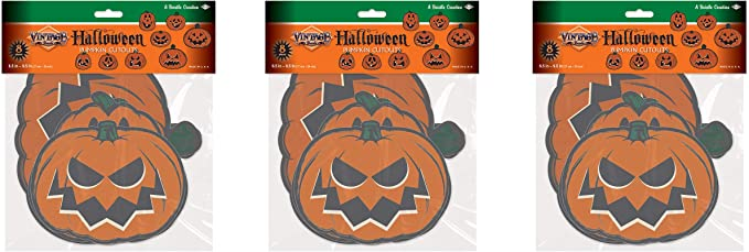 1 Pc. Beistle Pumpkin Goblin Vintage Halloween Jointed Cutout
