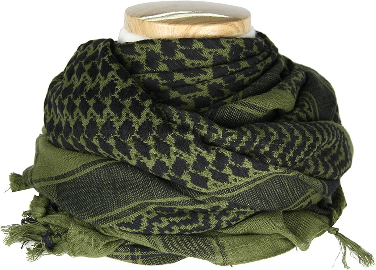 Shemagh tactical Scarf with Tassel Military Desert Keffiyeh Head Neck Scarf Arab Wrap 100/% Cotton
