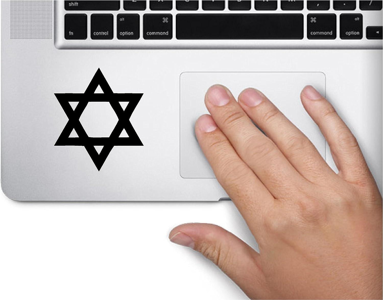 Star of David Shield Symbol Decal Funny Laptop Skin Macbook Trackpad Keypad Sticker Window