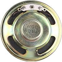 HALJIA 1 Watt 8 Ohm 50mm Dia Type de Haut-Parleur magnétique Rond métal Shell Haut-Parleur Corne