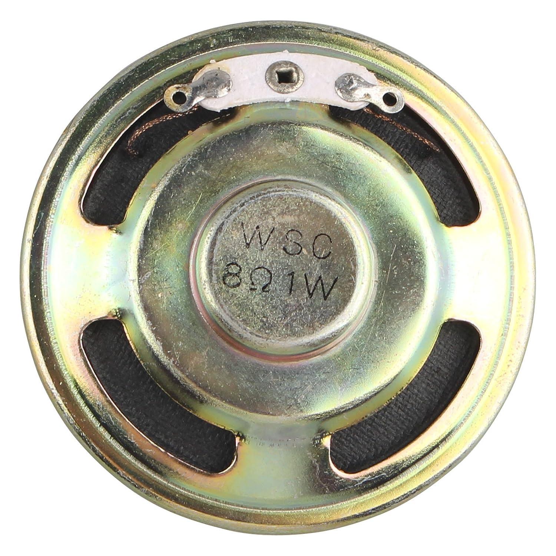 HALJIA 1 Watt 8 Ohm 50mm Dia Type de Haut-Parleur magné tique Rond mé tal Shell Haut-Parleur Corne