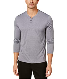 ee1b8bea43 Alfani Men's Micro Stripes Long Sleeve Moisture Wicking Henly Shirt