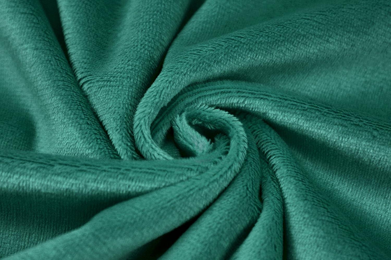 Kullaloo Shorty Tissu peluche en microfibre disponible en plusieurs couleurs Longueur des poils/1,5/mm Certifi/é EN71-3 et EN71-9 Dark Emerald