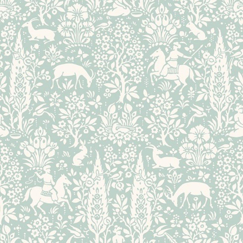 Animal Print Wallpaper Woodland Rabbits Dears Flowers Floral Birds Duc: Amazon.co.uk: DIY & Tools