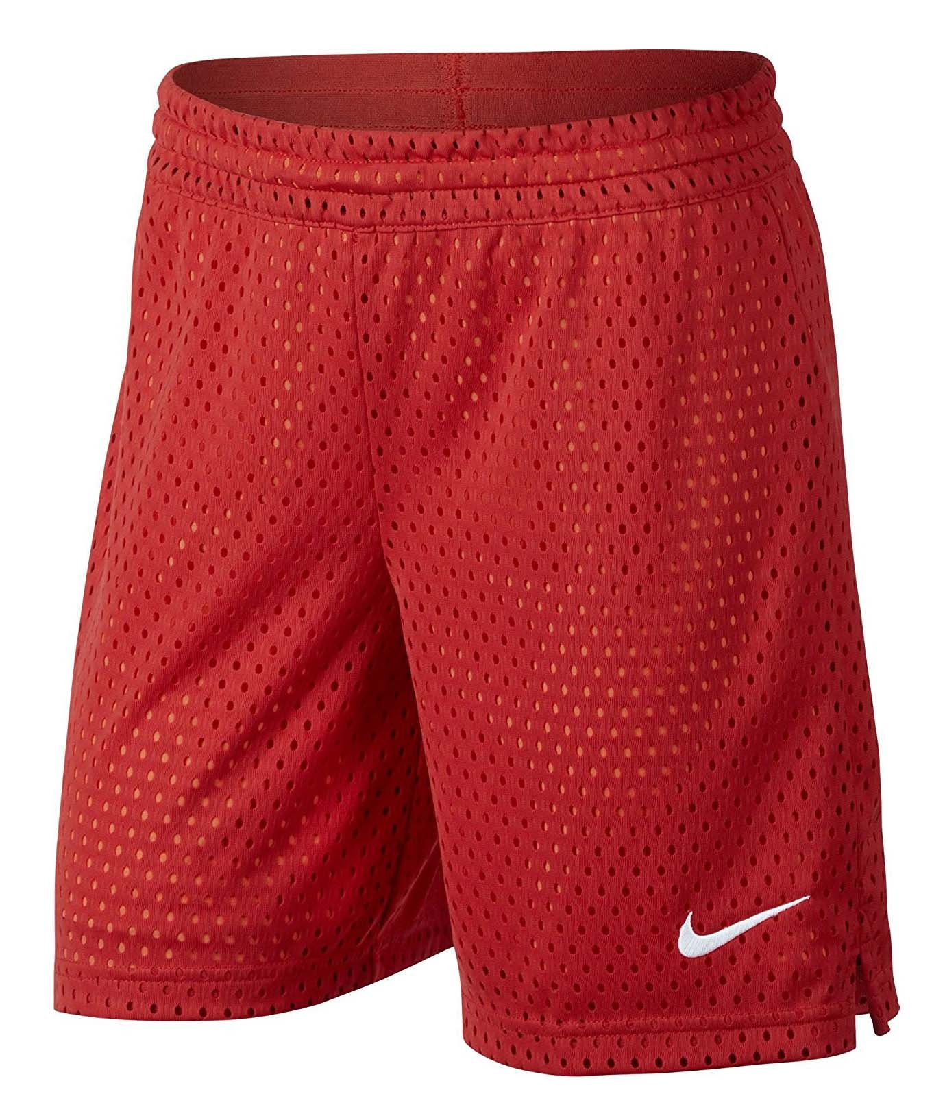 NIKE Girls' 7'' Mesh Shorts Red 830457-602 (L)
