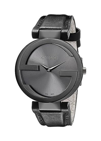 597b55a8425 Gucci Women s YA133302 Interlocking Black Leather Watch  Gucci  Amazon.ca   Watches