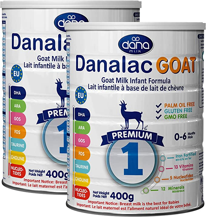 Pack of 1 DANALAC Organic Infant Formula 400 gr Stage 1 Baby Milk Powder for Infants and Toddlers Age 0-6 Months