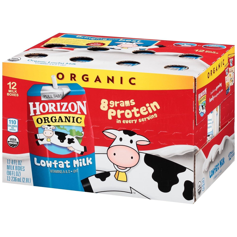Horizon Organic Lowfat Leche 12 – 8 fl. oz. Cajas de leche ...