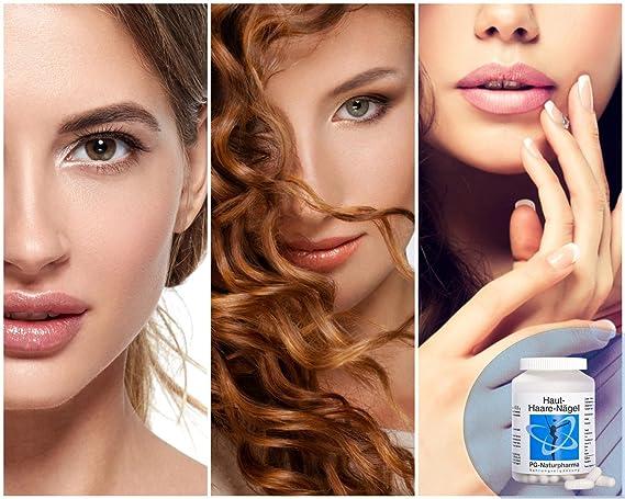 Vitaminas para la piel, el cabello y las uñas, vitamina para el pelo, con biotina, mijo perla, zinc, vitamina B, para una piel sana, cabello y uñas, ...