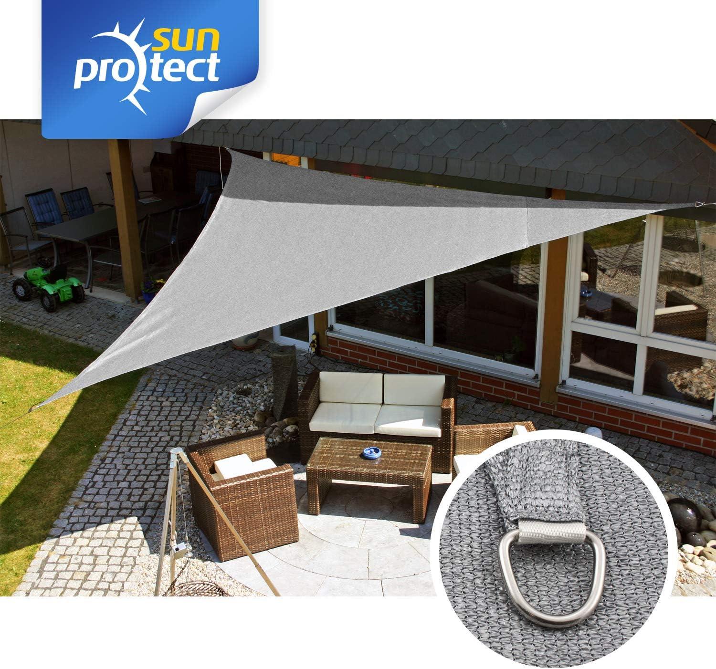 5 x 5 x 5 m wind- /& wasserd Dreieck sunprotect 83202 Professional Sonnensegel