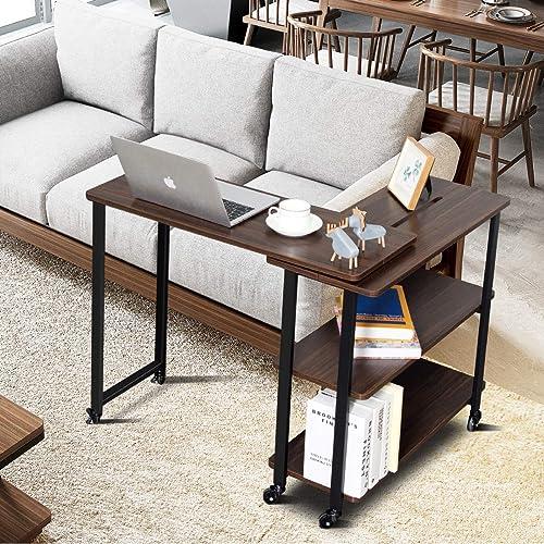 Tangkula 360 Free Rotating Sofa Side Table