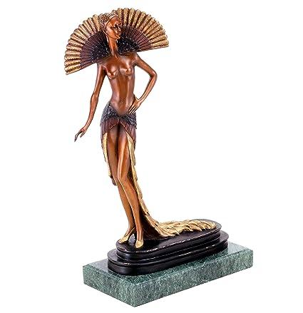 : Kunst & Ambiente Art Deco Lady Statue Female