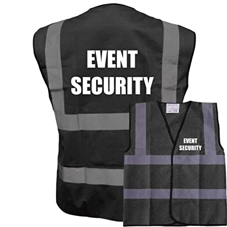 05e044a405401 Black Hi Vis Vest EVENT SECURITY Waistcoat Safety Vest Plus a Brook Hi Vis  UK Discount Code for your next order  Amazon.co.uk  DIY   Tools