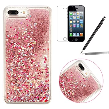 coque iphone 7 paillettes transparente