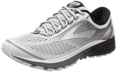 b6059b2972f421 Image Unavailable. Image not available for. Colour  Brooks Men s Ghost 10  White Silver Black ...