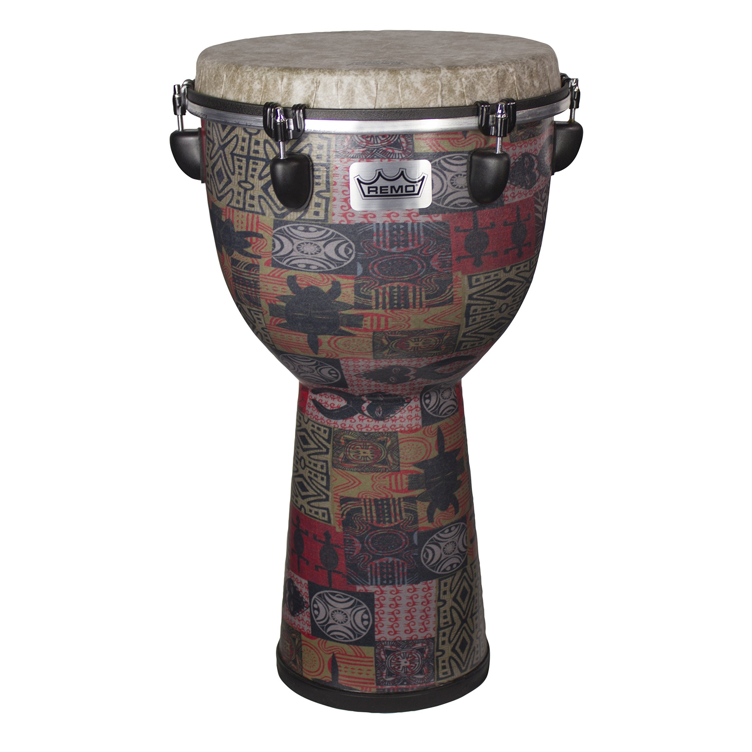 Remo DJ-6112-57 Apex Djembe Drum - Red Kinte, 12''