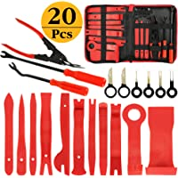 AUTMOR 20Pcs Car Auto Trim Removal Tool, Pry Kit, Car Panel Tool Radio Removal Tool Kit, Auto Clip Pliers Fastener Remover Pry Tool Kit, Car Upholstery Repair Tools with Storage Bag
