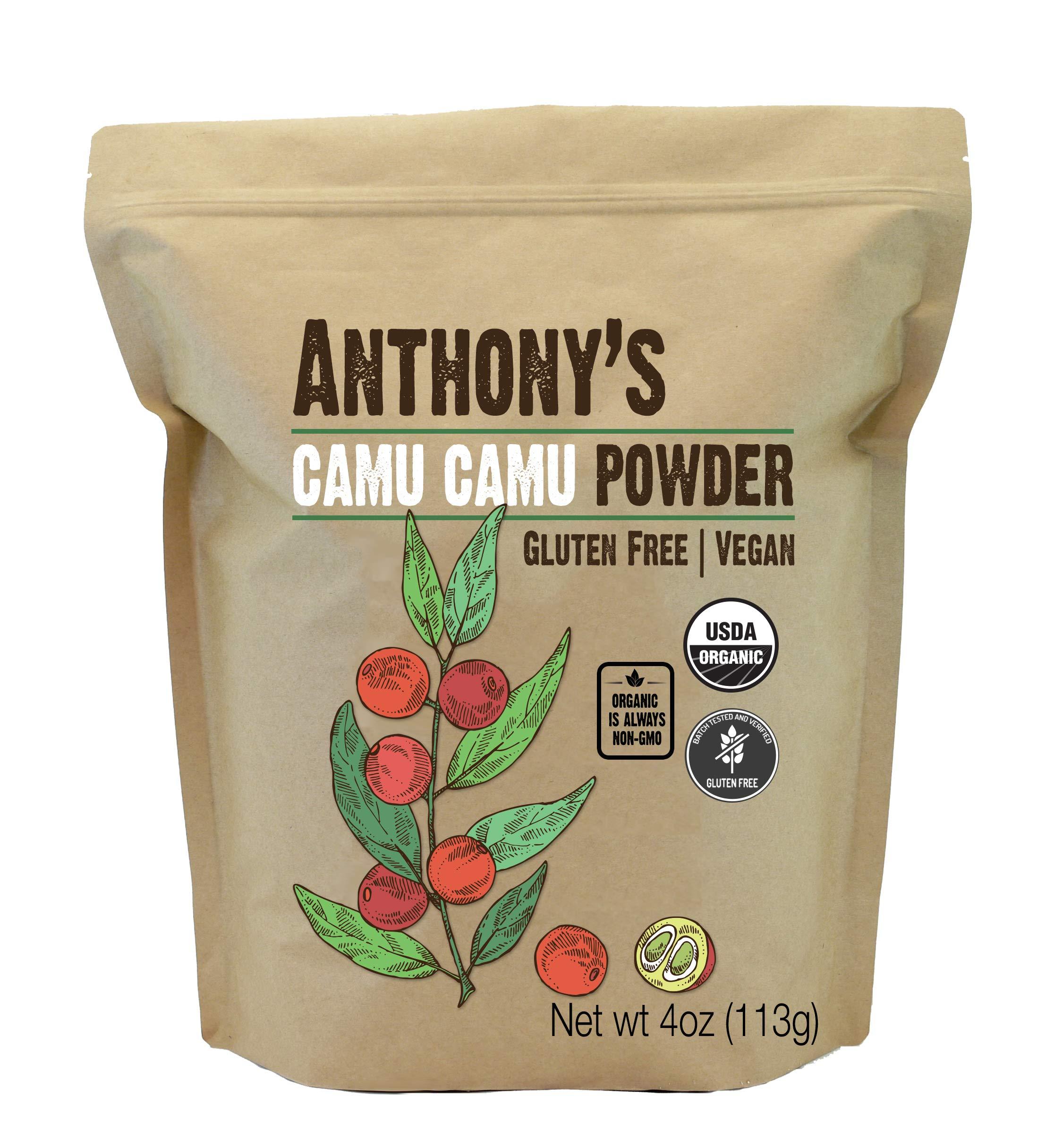 Anthony's Organic Camu Camu Berry Powder, 4 oz, Gluten Free, Vegan & Non GMO