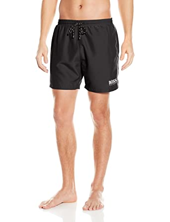 BOSS HUGO BOSS Men's Starfish Swim Trunk, Black, Large